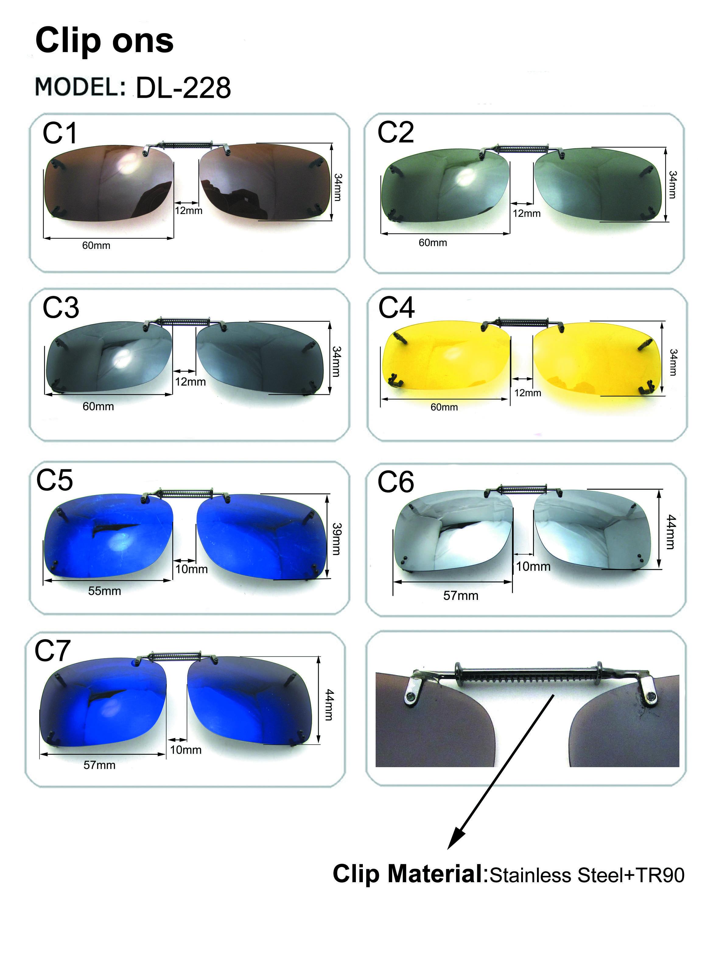 429b9ad7c056 Large Spring Clip On Sunglasses