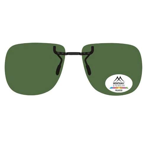 Green Premium fixed Clip On Sunglasses