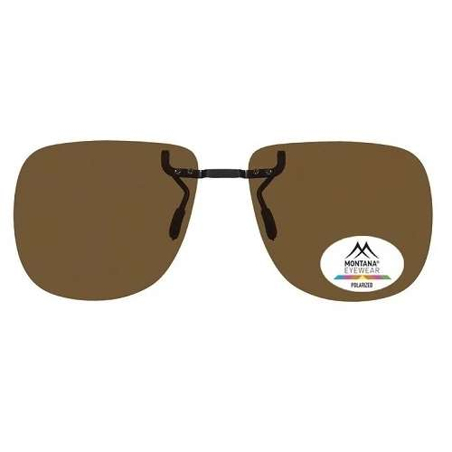 Dark Brown Premium fixed Clip On Sunglasses