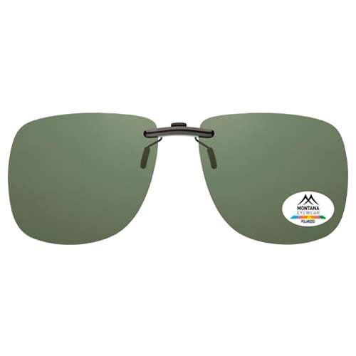 Green Montana Eyewear Clip On Sunglasses