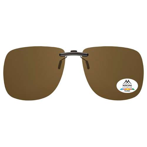 Brown Montana Eyewear Clip On Sunglasses