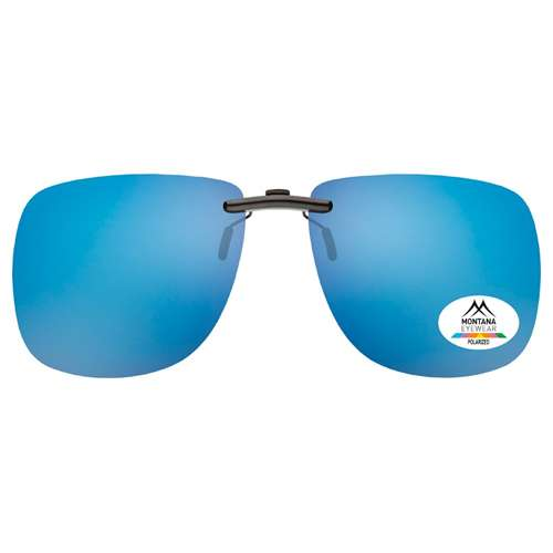 Light Blue Montana Eyewear Clip On Sunglasses