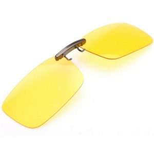 Yellow superior clip ons sunglasses