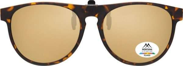 Round Wayfarers Clip on Sunglasses