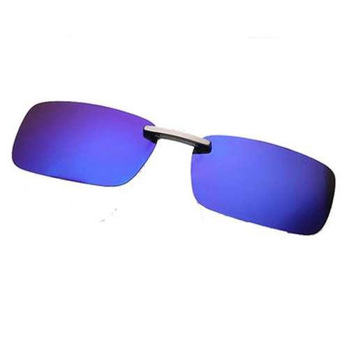Square Mirrored Clip On Sunglasses