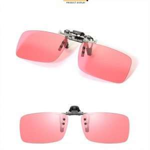 Migraine Pink Clip on Sunglasses