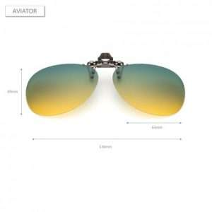 Aviator Day and Night Driving Prime Clip On Glasses