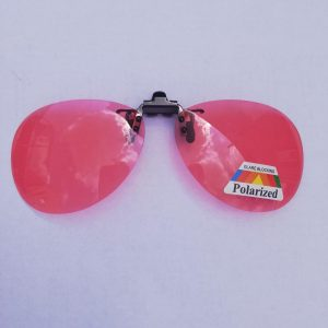 Aviator Migraine Pink Clip on Sunglasses